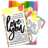 Waffle Flower Crafts - Craft Die and Clear Photopolymer Stamp Set - Oversized Love Combo