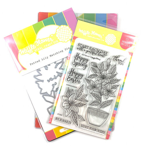 Waffle Flower Crafts - Craft Die and Photopolymer Stamp Set - Potted Lily