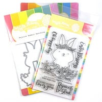 Waffle Flower Crafts - Craft Die and Photopolymer Stamp Set - Rejoice Rabbit