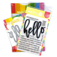 Waffle Flower Crafts - Craft Die and Photopolymer Stamp Set - Oversized Hello