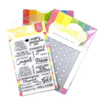 Waffle Flower Crafts - Craft Die and Photopolymer Stamp Set - Graduation
