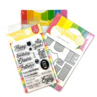 Waffle Flower Crafts - Craft Die and Photopolymer Stamp Set - Home Brew