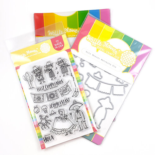 Waffle Flower Crafts - Craft Die and Photopolymer Stamp Set - Hola Mexico