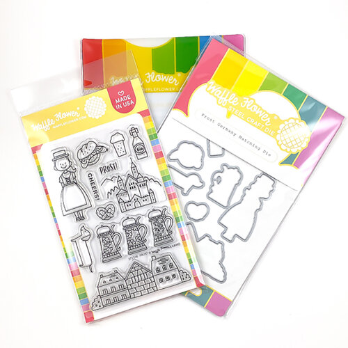 Waffle Flower Crafts - Craft Dies and Photopolymer Stamp Set - Prost Germany