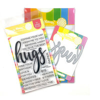 Waffle Flower Crafts - Craft Dies and Photopolymer Stamp Set - Oversized Hugs