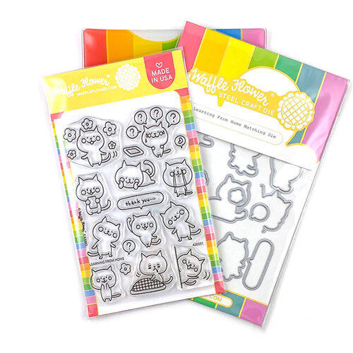 Waffle Flower Crafts - Craft Die and Photopolymer Stamp Set - Learning from Home