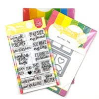 Waffle Flower Crafts - Craft Die and Photopolymer Stamp Set - Safe at Home