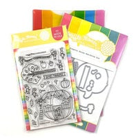 Waffle Flower Crafts - Craft Die and Photopolymer Stamp Set - Pumpkin House Combo