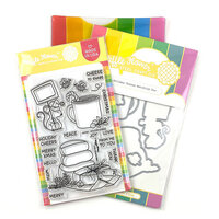 Waffle Flower Crafts - Craft Die and Photopolymer Stamp Set - Holiday Cheese Combo