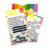Waffle Flower Crafts - Craft Die and Photopolymer Stamp Set - Merry Christmas Combo