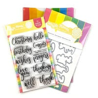 Waffle Flower Crafts - Craft Die and Photopolymer Stamp Set - Essential Sentiments Combo