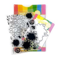 Waffle Flower Crafts - Craft Die and Photopolymer Stamp Set - Layered Sunflowers Combo