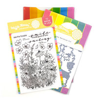 Waffle Flower Crafts - Craft Die and Clear Photopolymer Stamp Set - Tender Blooms Combo