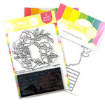 Waffle Flower Crafts - Hearts and Roses Collection - Craft Die and Clear Photopolymer Stamp Set - Love Letter Combo