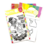 Waffle Flower Crafts - Hope Collection - Craft Die and Clear Photopolymer Stamp Set - Hopeful Girl Combo