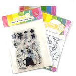 Waffle Flower Crafts - Hope Collection - Craft Die and Clear Photopolymer Stamp Set - Spring Blooms Combo