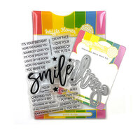 Waffle Flower Crafts - Craft Die and Clear Photopolymer Stamp Set - Oversized Smile
