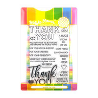 Waffle Flower Crafts - Craft Die and Clear Photopolymer Stamp Set - Thank You