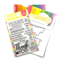 Waffle Flower Crafts - Craft Dies and Clear Photopolymer Stamp Set - Thank You