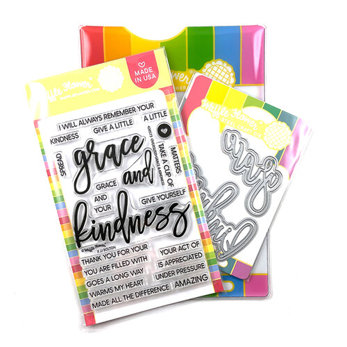 Waffle Flower Crafts - Craft Dies and Clear Photopolymer Stamp Set - Oversized Grace and Kindness