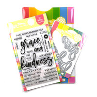 Waffle Flower Crafts - Craft Die and Clear Photopolymer Stamp Set - Oversized Grace and Kindness