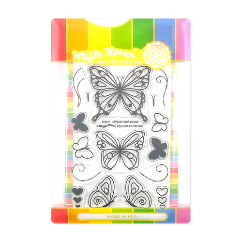 Waffle Flower Crafts - Craft Die and Clear Photopolymer Stamp Set - Spread Your Wings