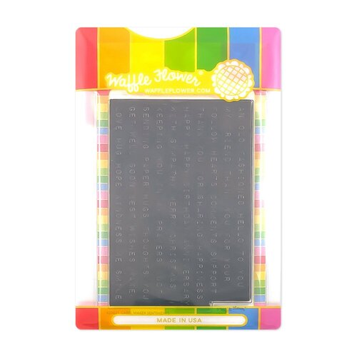 Waffle Flower Crafts - Craft Die and Clear Photopolymer Stamp Set - Label Maker Sentiments