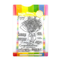 Waffle Flower Crafts - Craft Die and Clear Photopolymer Stamp Set - Wrapped Bouquet