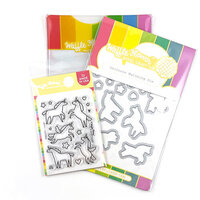 Waffle Flower Crafts - Craft Die and Clear Photopolymer Stamp Set - Unicorns