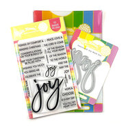 Waffle Flower Crafts - Christmas - Craft Dies and Clear Photopolymer Stamp Set - Oversized Joy
