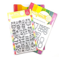 Waffle Flower Crafts - Christmas - Craft Dies and Clear Photopolymer Stamp Set - Hamster Family