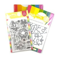 Waffle Flower Crafts - Craft Dies and Clear Photopolymer Stamp Set - Christmas Tag Elements