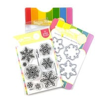 Waffle Flower Crafts - Craft Dies and Clear Photopolymer Stamp Set - Snowflakes