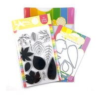Waffle Flower Crafts - Craft Dies and Photopolymer Stamp Set - Two-step Leaves