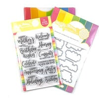 Waffle Flower Crafts - Craft Dies and Photopolymer Stamp Set - Essential Celebrations