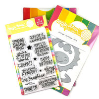 Waffle Flower Crafts - Craft Dies and Clear Photopolymer Stamp Set - Solar System