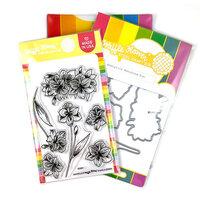 Waffle Flower Crafts - Craft Dies and Clear Photopolymer Stamp Set - Amaryllis