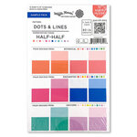 Waffle Flower Crafts - 5.5 x 8.5 Paper Pad - Sample Pack - Dots and Lines