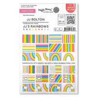 Waffle Flower Crafts - 5.5 x 8.5 Paper Pad - Sample Pack - JJ's Rainbows