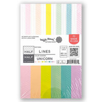 Waffle Flower Crafts - 5.5 x 8.5 Paper Pad - Half-Half Lines - Unicorn