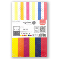 Waffle Flower Crafts - 5.5 x 8.5 Paper Pad - Half-Half Dots - Caprice