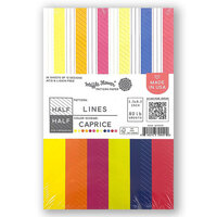 Waffle Flower Crafts - 5.5 x 8.5 Paper Pad - Half-Half Lines - Caprice