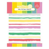 Waffle Flower Crafts - Stencils - Inky Stripes