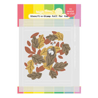 Waffle Flower Crafts - Stencil-n-Stamp - Fall for You
