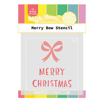 Waffle Flower Crafts - Stencils - Merry Bow