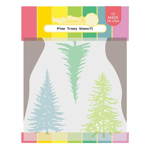 Waffle Flower Crafts - Stencils - Pine Trees