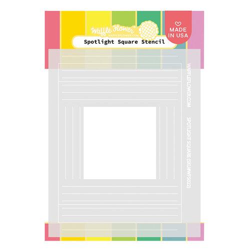 Waffle Flower Crafts - Stencils - Spotlight Square