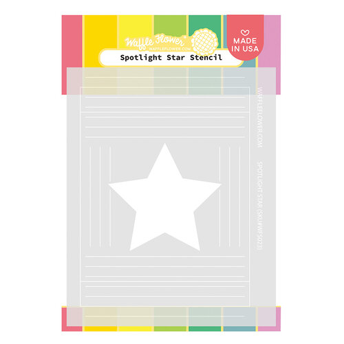 Waffle Flower Crafts - Stencils - Spotlight Star