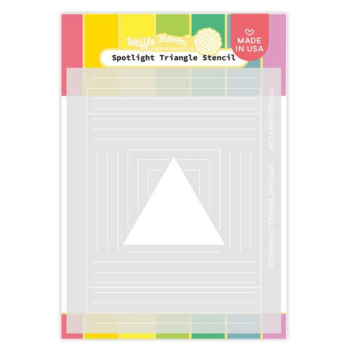 Waffle Flower Crafts - Stencils - Spotlight Triangle