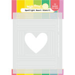 Waffle Flower Crafts - Hearts and Roses Collection - Stencils - Spotlight Heart